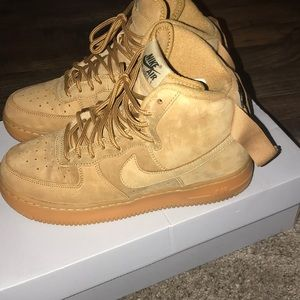Shoes | High Top Wheat Forces | Poshmark